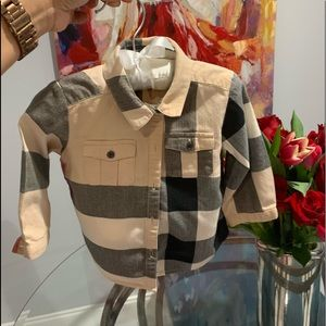 Burberry dress shirt 9 months.boy
